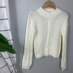 Harper Canyon Cream Cable Knit Sweater